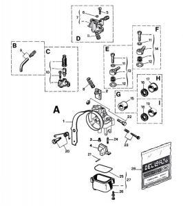 Dellorto Sprängskiss - (SHA) 10-13mm