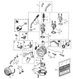 Dellorto Sprängskiss - (SHA) 14-16mm