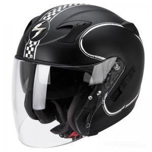 Scorpion EXO-220 (Bixby) Mattsvart, Vit