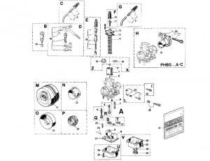 Dellorto Packningssats (PHBG)