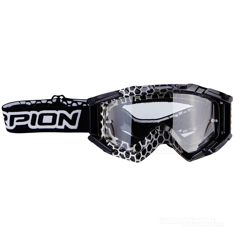 Scorpion Goggles (E16) White Black