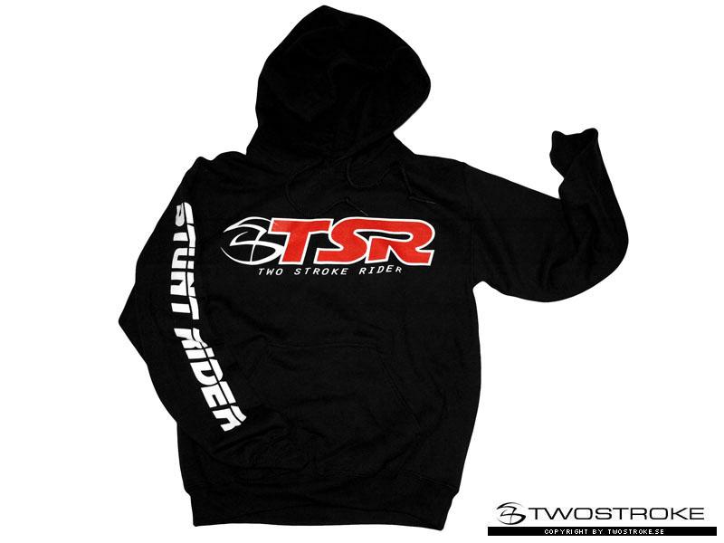 tsr hoodie stunt rider black twostrokese
