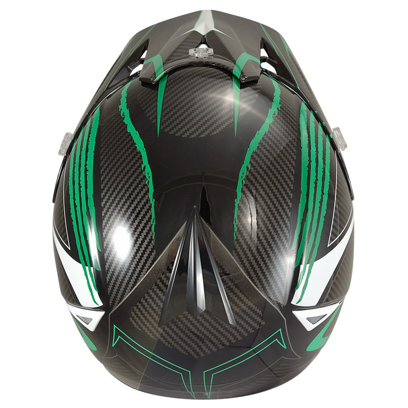 Chok Crosshjälm (New Energy 15) Green/Carbon