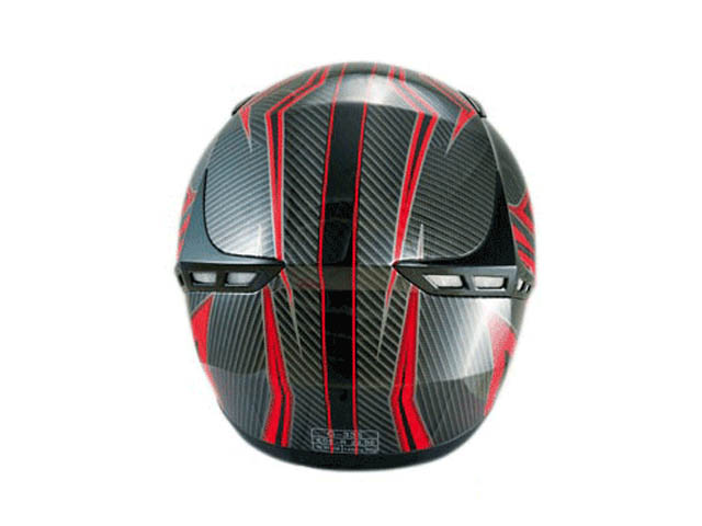 Chok Integralhjälm (Fighter 14 Carbon look) Red