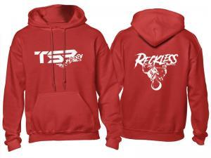 TSR Hoodie (TSR Reckless) Röd, Vit