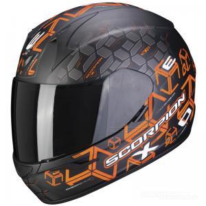 Scorpion EXO-390 Hjälm (Cube) Mattsvart, Orange