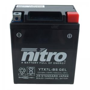 Nitro Batteri (YTX7L-BS GEL)