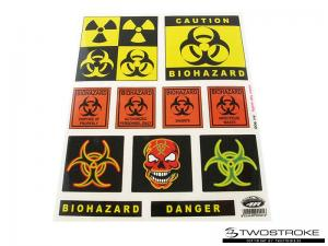 4R Stickersark (20x24cm) BIOHAZARD