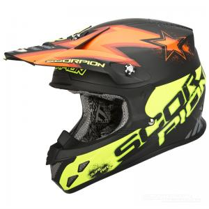 Scorpion VX-20 Crosshjälm MX/Race (Magnus) Svart, Gul, Röd