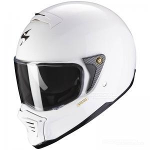 Scorpion EXO-HX1 Streetfighterhjälm (Solid) Vit
