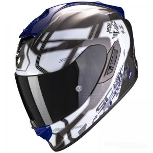 Scorpion EXO-1400 MC-Hjälm (Spatium) Vit, Blå