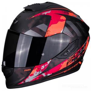 Scorpion EXO-1400 MC-Hjälm (Sylex) Mattsvart, Röd