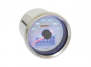 Koso Hastighetsmätare (D55, White) 0-260km/h