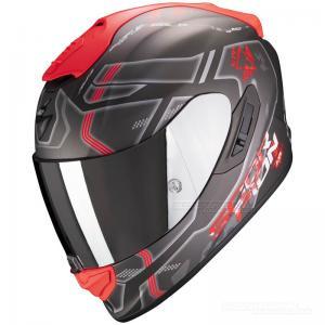 Scorpion EXO-1400 MC-Hjälm (Spatium) Matt silver, Röd