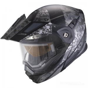 Scorpion ADX-1 Snöskoterhjälm (Battleflage) Svart, Silver
