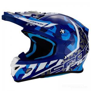 Scorpion VX-21 Crosshjälm MX/Race (FURIO) Blå, Vit