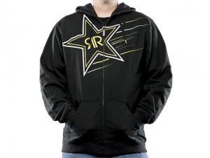 Rockstar Zip Hoodie (Supernova) Svart