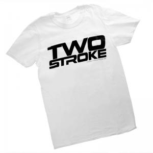 TSR T-Shirt (Twostroke Logo) Vit
