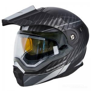Scorpion ADX-1 Winter (Dual) Mattsvart, Silver