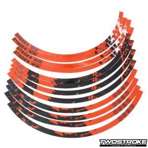 Stage6 Fälgdekaler (17-tum) - Orange / Svart