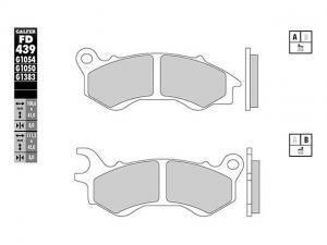 Galfer Bromsbelägg (Semi-metall) Fram