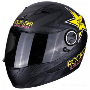 Scorpion EXO-490 Hjälm (Rockstar) Mattsvart, Gul, Röd