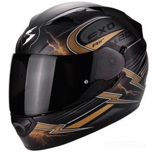 Scorpion EXO-1200 AIR (Fulgur) Mattsvart, Guld