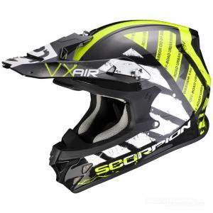 Scorpion VX-21 Crosshjälm MX/Race (Urba) Svart, Neongul