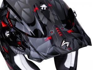 Scorpion Skärm (VX-16 AIR, Punch) Svart, Silver, Röd