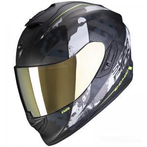 Scorpion EXO-1400 MC-Hjälm (Sylex) Mattsvart, Silver