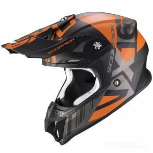 Scorpion VX-16 Crosshjälm (Mach) Mattsvart, Orange