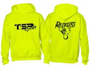 TSR Hoodie (TSR Reckless) Neongul, Svart