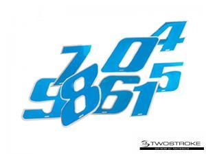 4R Racingsiffror (Blå)