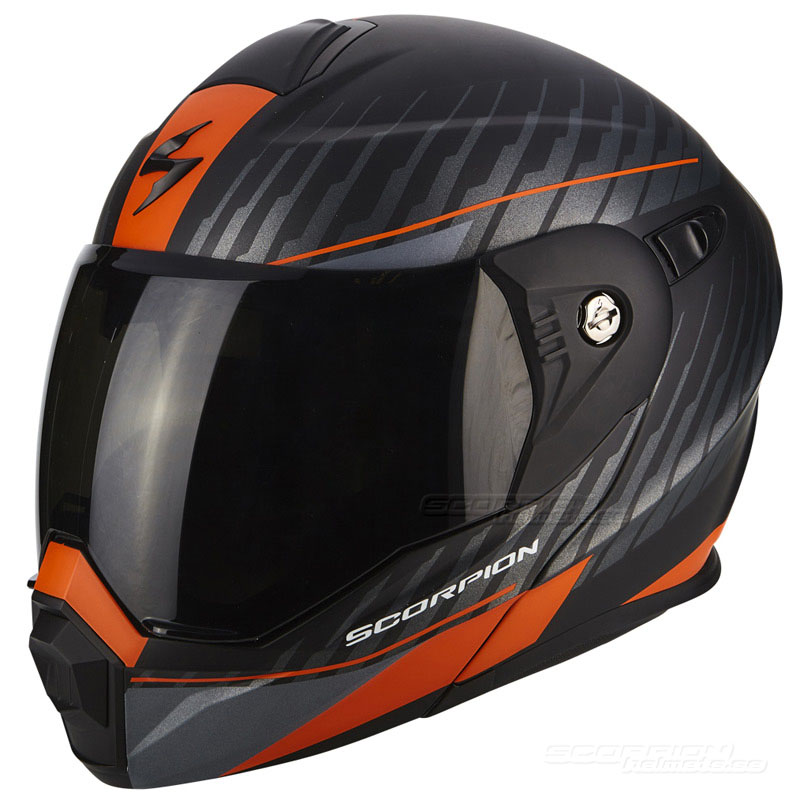 Scorpion ADX-1 Hjälm (Dual) Mattsvart, Orange