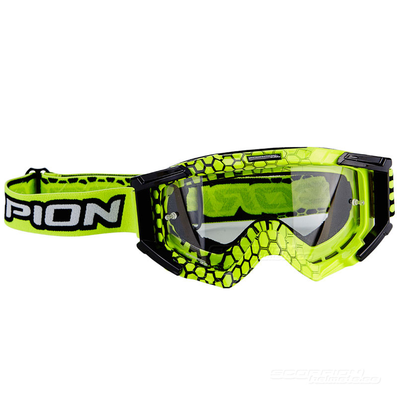 Scorpion Crossglasögon Goggles (E16) Neon Yellow - Black