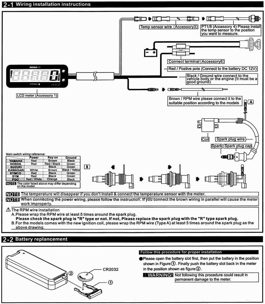 Koso Varvrknare Pro 1 Wiring Diagram